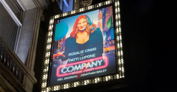 theatre sign for Company play