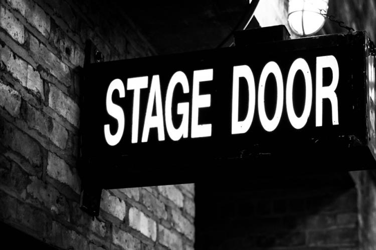 stage door sign